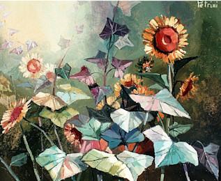 Girasoli for Fiori dipinti ad olio