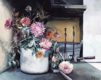 Fiori dipinti a olio paola petrini for Vasi di fiori dipinti